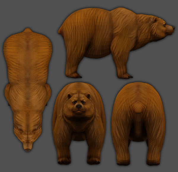 bear low-poly model