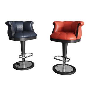 flower bar stool 3D model