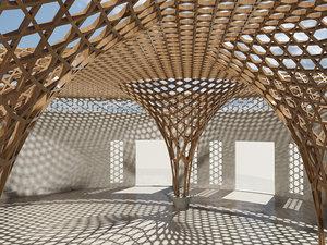 3D parametric arch city modeled model