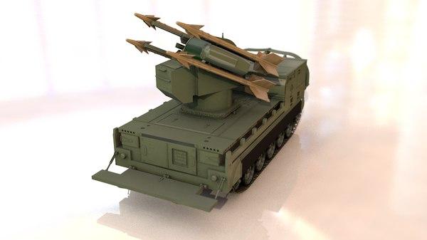 3D model m730a1 chaparral missile