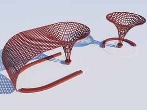 3D parametric decoration stand model