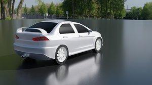 mobile spoiler exhaust 3D model