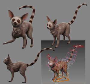 3D wildlife animal primate