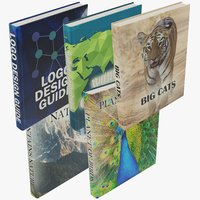 3D books sets model