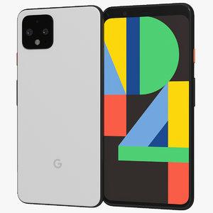 3D realistic google pixel 4 model