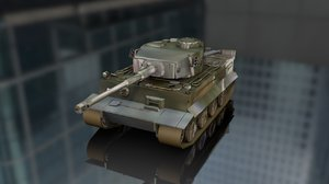 3D tiger german military tank