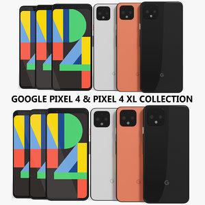 realistic google pixel 4 3D