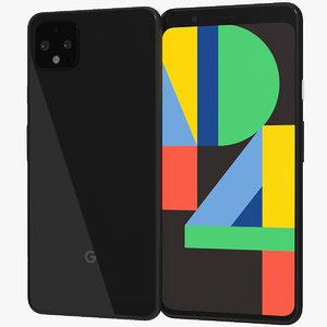 realistic google pixel 4 3D model
