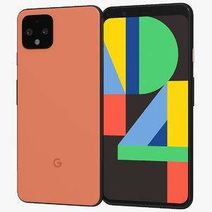3D realistic google pixel 4