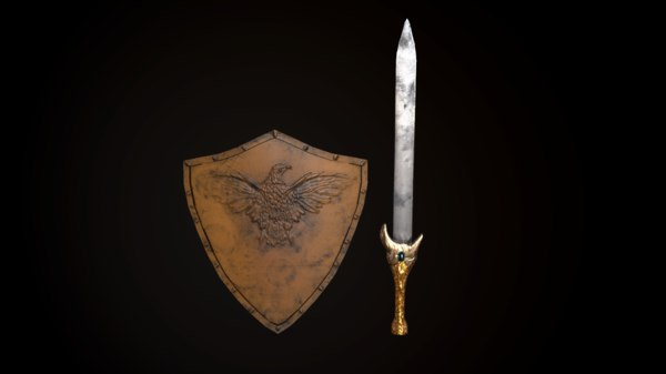 sword shield 3D model