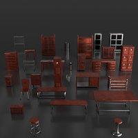 pack furniture warehouse post 3D model