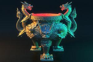 hearth dragon 3D