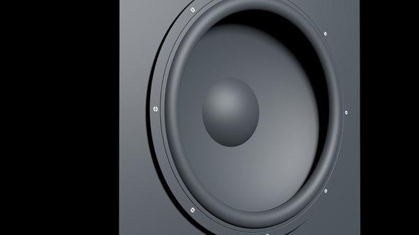 3D highpoly speaker