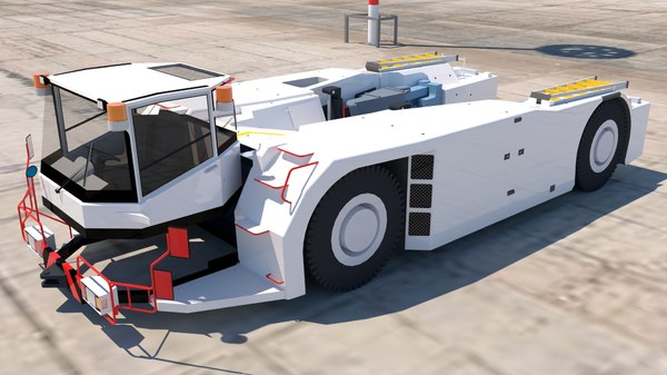 3D model towing aircraft