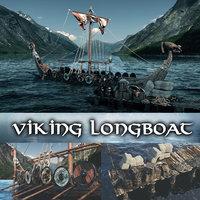 viking longboat 2020 redshift 3D