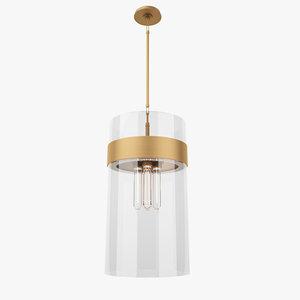 3D visual comfort s5674bz-cg pendant lamp model