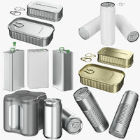 aluminum cans 01 3D model