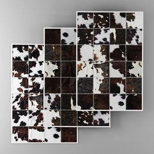9 carpets 3D model