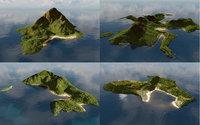 Bundle of islands in Blender
