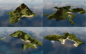 3D model islands blender
