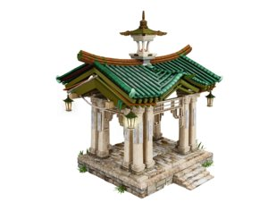 3D pagoda architecture