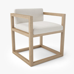 restoration hardware aviara teak 3D model