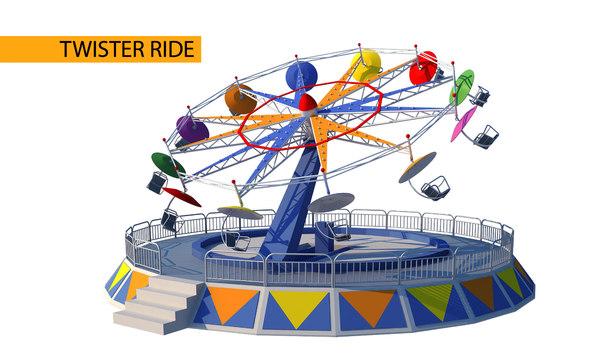 twister ride 3D model