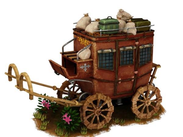 wagon transportation vehicle 3D model