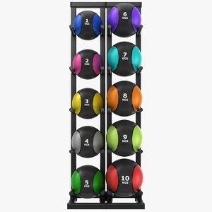 medicine balls rack 3D model