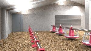 3D model poutry farm
