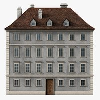 photorealistic neoclassical building 3D model
