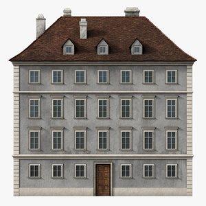 photorealistic neoclassical building 3D model