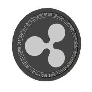 3D model ripple black coin