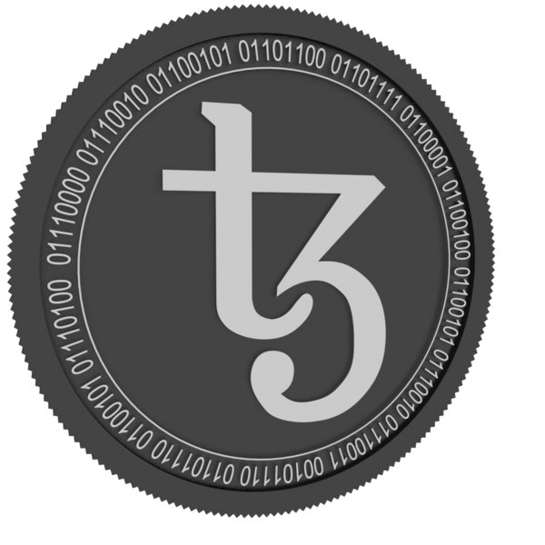 3D tezos black coin