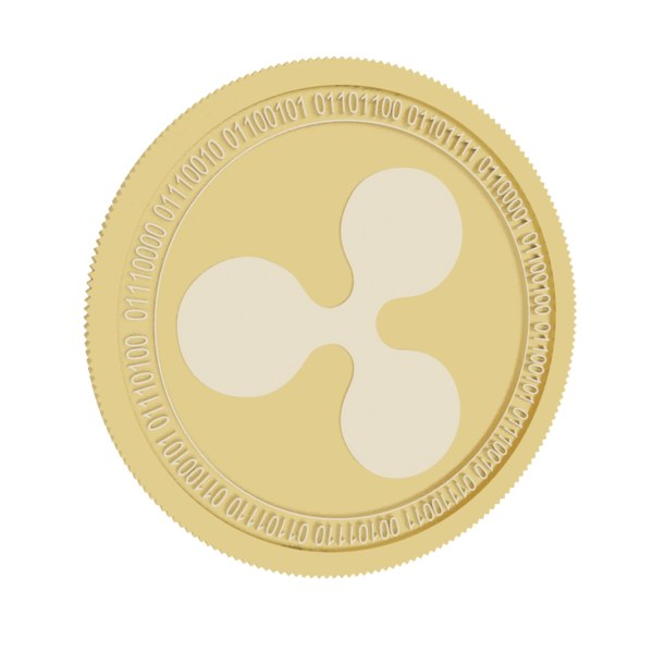 ripple gold coin 3D model