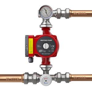 3D fittings heating pump model