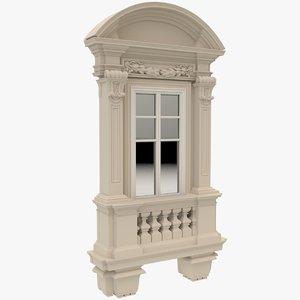 3D model window x2