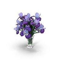 3D model bouquet iris