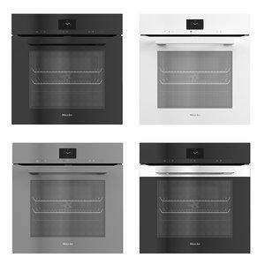 3D miele oven black model