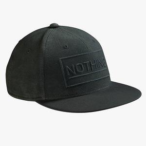 realistic black cap 3D model