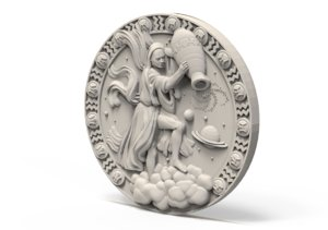 medallion basrelief model