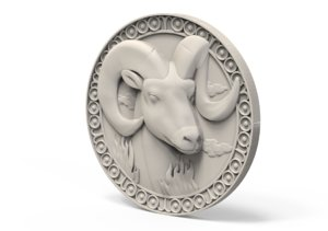 medallion basrelief 3D model