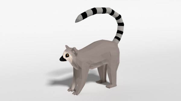 ring tailed lemur 3D model