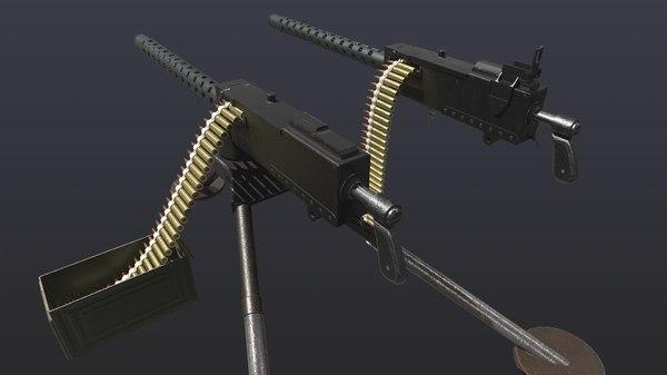 world war 2 browning 3D