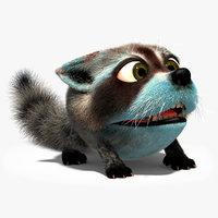 character rig raccoon 3D model