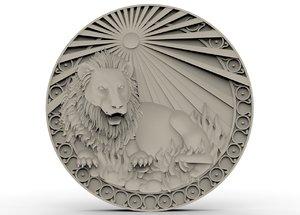 3D model lion