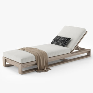 restoration hardware porto chaise 3D
