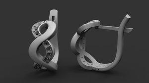 3D jewellery earrings printing
