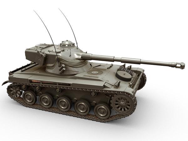 3D model amx-13 tank french