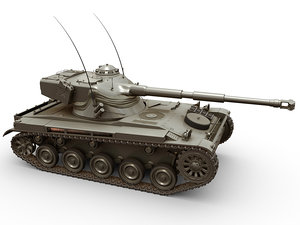 3D model amx-13 tank french